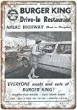 Forry Burger King Anzac Highway Metall Poster Retro