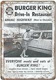 HONGXIN Burger King Anzac Highway Blechschild Retro Zinn