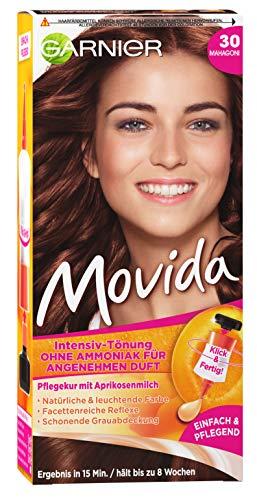 Garnier Tönung Movida, Intensiv-Tönung Haarfarbe 30 Mahagoni, 3er Pack Haarcoloration-Set
