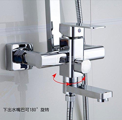 Galvanik Galvanik Retro Retro Wasserhahn Wasserhahn gute Qualität drehen Whirlpool Füller Badewanne Brause Armatur Wasserhahn Wall Mount 8