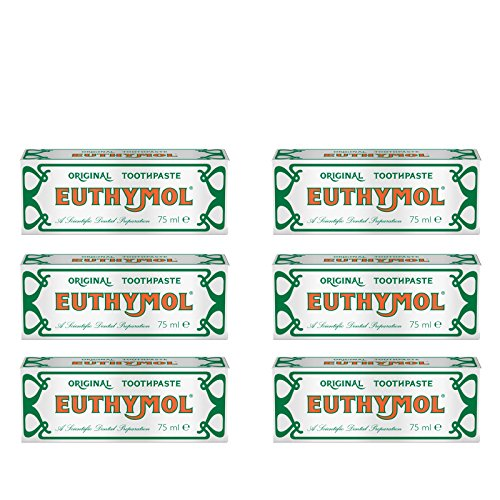 Euthymol Original Toothpaste Tube (75ml) - Pack of 6 by Euthymol