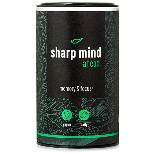AHEAD Sharp Mind | Nootropic Brain Booster for Memory and Focus | with Alpha GPC, Huperzine A, Brahmi, L-Theanine | NO Caffeine | 90 Vegan Capsules