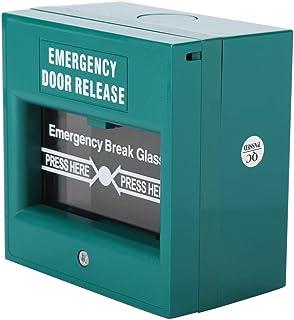 Vbestlife Botón de Alarma de Incendio del Lanzamiento de la Puerta de Salida Botón de Emergencia
