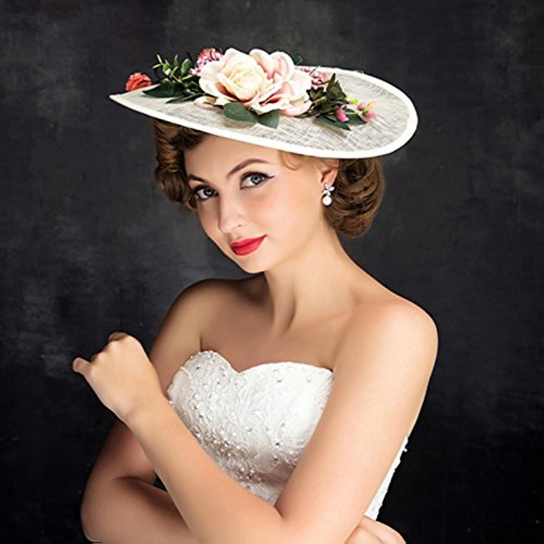 AO Bridal Accessories Hat Fashion Flower Mesh Handmade Hat Headdress for Women