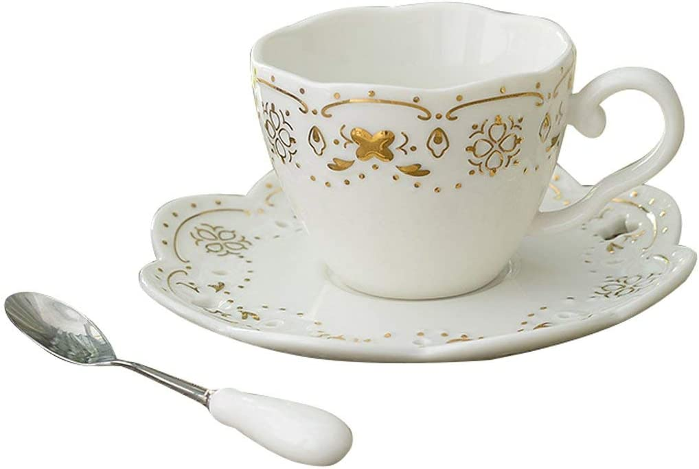 ZZI Portable Tech Euro Style Cup and Set Saucer Bone Year-end gift China Max 42% OFF C Art