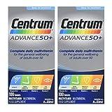 2 Packs of Centrum Advance 50 Plus - 100 Tablets = Total 200 Tablets