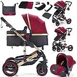 Die Nr. 1 auf Amazon - Daliya Bambimo 3 in 1 Kinderwagen - Kombikinderwagen Riesenset 15-Teilig incl. Babywanne & Buggy &...