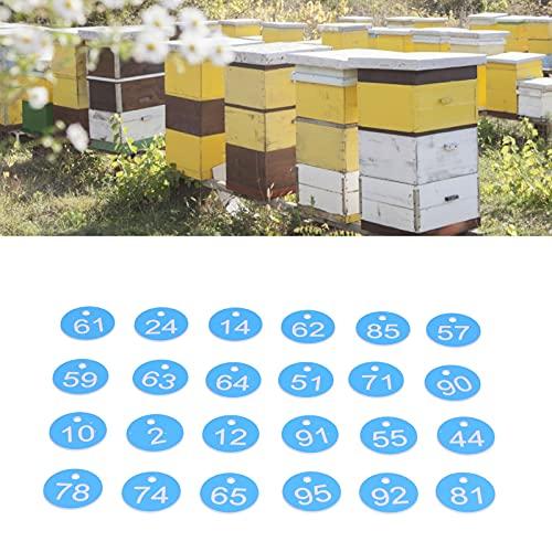 Etiqueta de la colmena, etiqueta de la colmena para la apicultura para la cría de animales(Blue and white)
