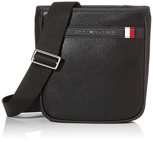Tommy Hilfiger heren Th Downtown Mini Crossover Business tas, zwart (zwart), 1x1x1 cm