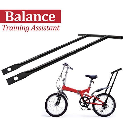 LOOYUAN Children Cycling Bike Safety Training Handle Strong for Kids Balance Push Bar, Balance Buddy, Black