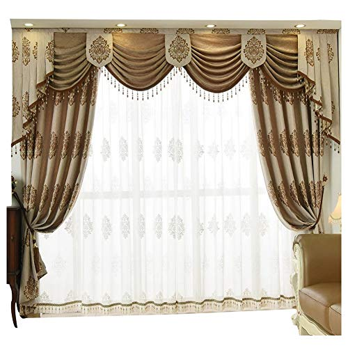 Queen's House Luxury Window Curtain Living Room Drapes 52''84''