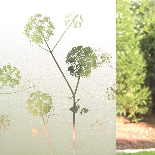 "Best Home Fashion Dandelion Art Glass Window Film - 17.5 "" W x 78"" L"