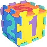 Bieco Puzzlematte, 20 tlg.   Spielmatte Baby   XXL Puzzle Kinder   Krabbeldecke Baby Spielmatte Kinder  Turnmatte Kinder   Kinder Teppiche   Krabbelmatte Baby   Buchstaben Lernen   Spielteppich jungen