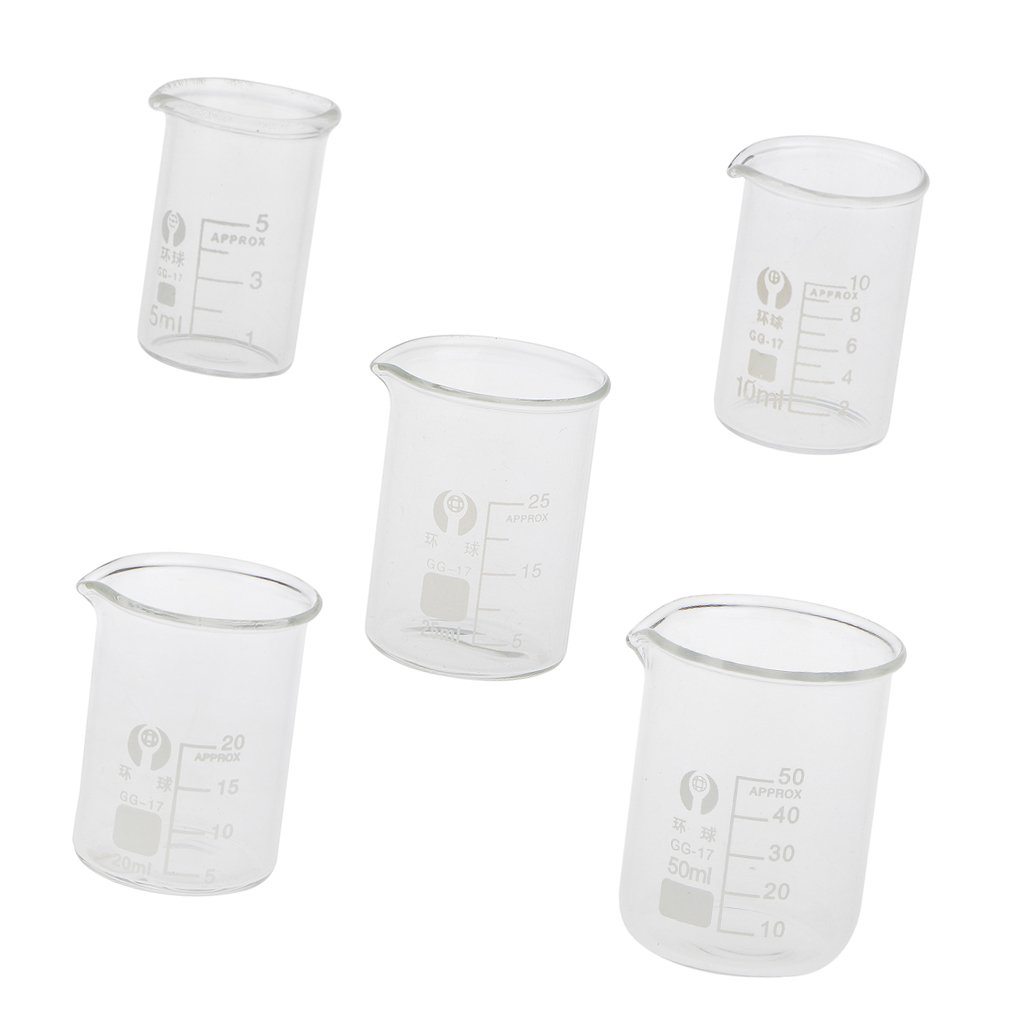Milageto 5 Pieces Our shop most popular of Laboratory Measuring Glass Max 84% OFF Cups