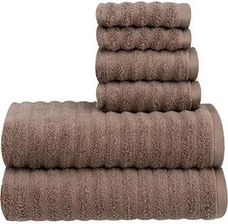 Mainstay Performance Texture 6-Piece Towel Set,Acorn
