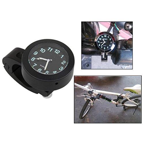 Itian Universal Motorrad Lenkerhalter Uhr wasserdichte Uhr (schwarz)