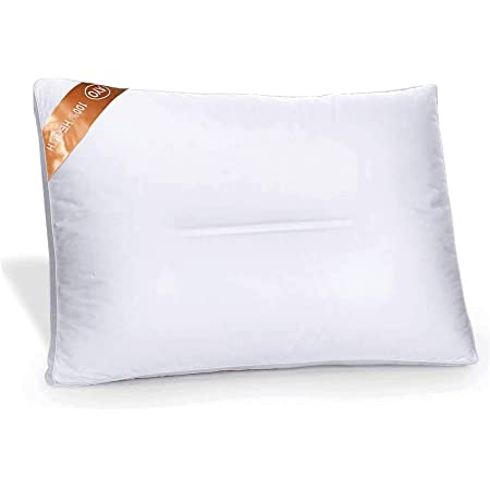 AYO【2021年発売】枕 低反発まくら 高級ホテル仕様 丸洗い可能 高さ調節可能 横向き対応 立体構造 家族のプレゼント (ホワイト-43x63cm)