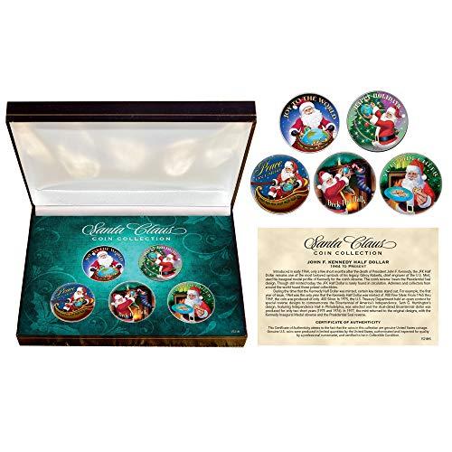 Santa Claus JFK Half Dollar Coin Box Set