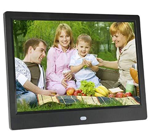 GAOwi Pantalla IPS de Vista Completa de 10 Pulgadas 1280 * 800 Marco de Fotos Digitales con Control Remoto,Negro