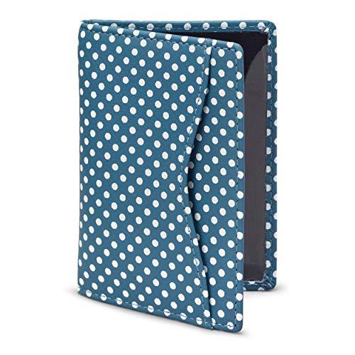 Tarjetero de cuero y lunares - tarjetero para el abono de transporte, 1642, azul (azul) - 5307P 17 21