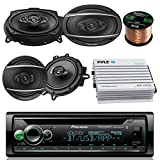 Pioneer DEHX Car CD MP3 Stereo Player with Bluetooth AM/FM Radio Bundle 2 x 6x9' inch 2 eakers, 400 Watt Car Audio Amp Compx 6.5' inch Speakers, Car Stereo Kit 50 ft 18g Speaker Wire