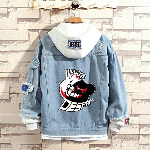 MLX-BUMU Danganronpa: Trigg Jeansjacke Herbst Jeansjacke Jeansjacke Hoodie Outwear Coat,XL