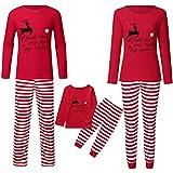 Snakell Baby Kinderkleidung Baby Kinder Jungen Mädchen Bekleidung Weihnachten Set, Familien Schlafanzug Xmas Pyjama Weihnachtshirsch Bluse + Streifen Lange Hosen Nachthemd Nachtwäsche...