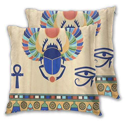 MOBEITI Juego de 2 Decorativo Funda de Cojín Los Iconos Egi