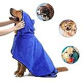 yidenguk Toalla para Perros Microfibra Absorbente Perros Albornoz para Secado Tras el baño, Nadar o Paseo bajo la Lluvia Toalla Absorbente de Agua para Perros y Gatos