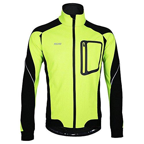 Chaqueta de invierno de Lixada para ciclismo, bicicleta de montaña, MTB, jersey cortaviento, color verde, tamaño XXL(CN)=XL(EU)