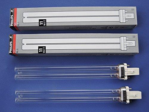 2x Philips TUV Kompaktlampe PL-S 11 Watt UV-C Teichklärer 11W - DUOPACK