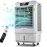 Lapden Refrigerador de Aire evaporativo al Aire Libre para Exteriores - 3 Modos/velocidades, acondicionador de Aire portátil del refrigerador de pantano con Ventilador y humidificador para fábrica