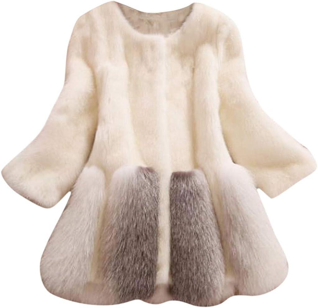 Choice HebeTop Women's Winter Luxurious Thick Warm Fluffy Hood Max 40% OFF Faux Fur