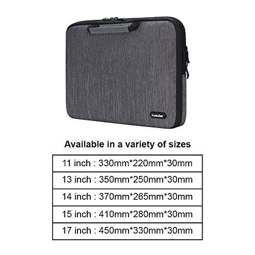 iCozzier 13-13,3 Zoll Notebook Hülle Sleeve Tasche mit Griffen/Multifunktionale Aufbewahrungs Zubehörtasche für 13 Zoll Laptop/Ultrabook/Notebook/Netbook/MacBook - Grau - 6