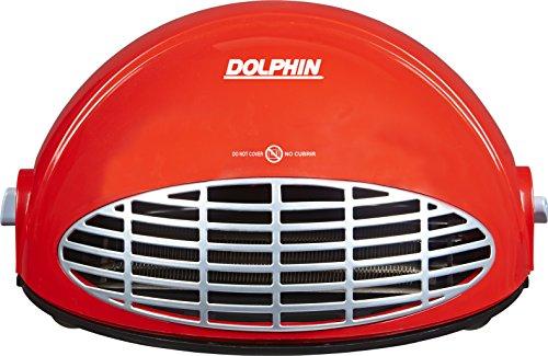 Dolphin DVTSOL2000 Termo ventilador media luna, color rojo