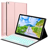 BORIYUAN Ipad 9.7Bluetooth Keyboard Case Ultra Slim 360Degree Rotating Stand Case With Magnetic Detachable Wireless Bluetooth Keyboard in German gold Gold