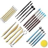 LilyJudy Juego de 24 bolígrafos y herramientas de punteado, arcilla, cerámica, para escultura de cerámica