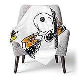 IUBBKI Personalisierte Kinder Fleece Decke Custom, Snoopy (125), Superweiche Babydecke für Kinderbett Couch Stuhl Wohnzimmer