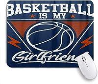 マウスパッド 個性的 おしゃれ 柔軟 かわいい ゴム製裏面 ゲーミングマウスパッド PC ノートパソコン オフィス用 デスクマット 滑り止め 耐久性が良い おもしろいパターン (バスケットボールインドアコートネットアメリカンスポーツゲームのテーマ)