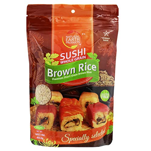 Brown Sushi Rice, Gluten Free Premium Japanese Short Grain Brown Rice, Sticky Rice - Specially Selected, 16 Oz - Specially Selected, 16 Oz Resealable Bag (Single)