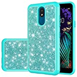 Yodueiv Phone Case for LG K30 2019/Aristo 4/Prime 2/Arena 2/Escape Plus/Tribute Royal/Journey LTE/X2 2019/X320 Case, Cute Glitter Bling Defender Heavy Duty Cover Cases for LG Aristo 4 Plus(mint green)