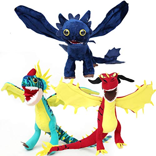 3st How to Train Your Dragon Master 2 Knuffel Doll Nightingale Blue Dragon Toothless