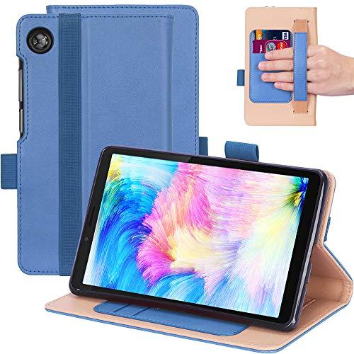 KUWEI Hulle fur Lenovo Tab M7 TB 7305F 70 PU Leder Flip Schutzhulle Ultra Dunn Superleicht Case Tasche Standerfunktion fur Lenovo Tab M7 70 Inch Tablet PC Blue