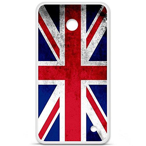 Cover Nokia Lumia 640XL a, in Silicone Gel, protezione arrière-, motivo: bandiera Inghilterra