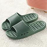 QPPQ Zapatillas suaves con punta abierta, zapatillas de baño masculinas y femeninas, sandalias antideslizantes para el baño, color verde pavo real 5.5-6, zapatillas de ducha de verano