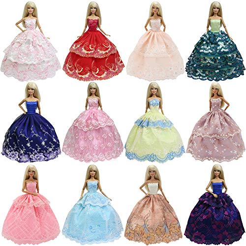 K.T. Fancy 6 PCS Handmade Fashion Party Dresses Clothes   for 11.5 Inch Girl Doll Kid Xmas Brithday Gift
