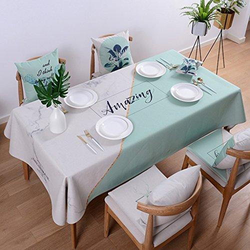 LWF-Nappe européenne Nappes végétales Nappes fraîches en coton et lin Nappes rectangulaires Nappes nappes épaisses nappes Nappes simples (Color : A, Size : 110 * 170cm)