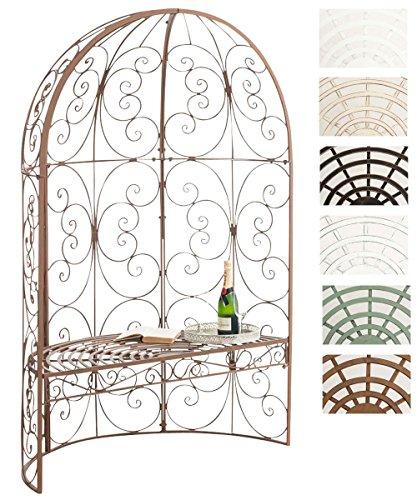Cenador de Jardín Rosie con Banco de 2 Plazas Incluido I Banco de Jardín con Semi-Arco para Flores I Pérgola de Jardín con Banco I Color:, Color:Antiguo marrón