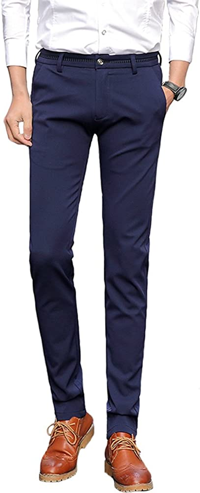 Beninos Mens Skinny Straight-Fit Work Pants