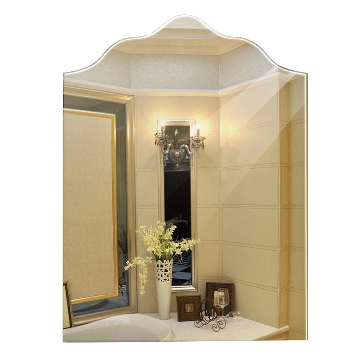 分解する朝ごはんはっきりとYEZI ミラー浴室無枠の壁の洗面台の鏡ユニークな形、サイズ:45 * 60cm 装飾鏡 (色 : Clear)